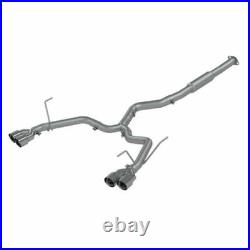 MBRP 3 Stainless Race Quad Tip Cat Back Exhaust for 2015-2019 Subaru WRX STI