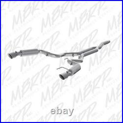 MBRP 3 single-dual Cat-Back Alum Race Exhaust Ford Mustang 2.3L Turbo 15-17