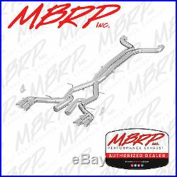 MBRP RACE 3 Cat Back Dual Exhaust System 2016-2019 Camaro 6.2L LT1 LT4 SS ZL1