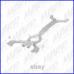 MBRP Race Catback Back Exhaust with 4.5in Quad Dual Wall Tips 16-19 Camaro 6.2L