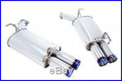 MEGAN RACING AXLE BACK EXHAUST With BURNT ROLLED TIPS FOR 06-10 M35 M45 AWD RWD