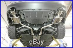 MEGAN RACING AXLE BACK EXHAUST With BURNT TIP FOR 14-18 LEXUS IS250 SEDAN 2.5L V6