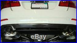 MEGAN RACING SUPREMO AXLE BACK EXHAUST With BURNT TIPS FOR 11-18 F10 535 550 SEDAN