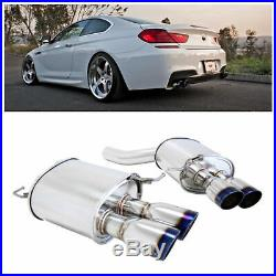 MEGAN RACING SUPREMO AXLE BACK EXHAUST With BURNT TIPS FOR 12-16 F12 F13 650I 2D