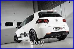MILLTEK Cat Back Race System Exhaust SSXVW219 Golf Mk6 R 2.0 TSI 270PS Titanium