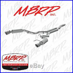Mbrp 3 Cat Back Exhaust Kit Fits 2015-2019 Mustang 2.3l Ecoboost Race Version