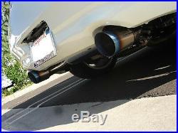 Megan Racing Axle Back Exhaust Blue Burn Tip Neo Chrome Fits Infiniti G37 08-13
