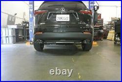 Megan Racing Axle Back Exhaust For Lexus NX200T 2015-2017 Burnt Rolled Tips