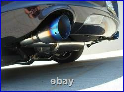 Megan Racing Blue Titanium Tips Axle-Back Exhaust For Lexus SC430 2001 2010