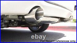 Megan Racing Burnt Tip Axle Back Exhaust System for 12-19 BMW F30 335i Sedan