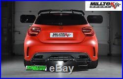 Mercedes A45 AMG Milltek 3 Race Cat Back Exhaust Non Res Non Valved Loudest