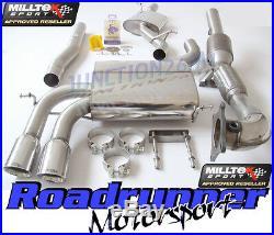 Milltek Audi S3 8P Exhaust Sportback Turbo Back Resonated & Downpipe RACE Cat