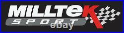 Milltek BMW M135i Cat Back Exhaust 1 Series 3&5 Door F21 F20 RACE Black SSXBM966