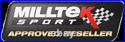 Milltek BMW M2 Competition Exhaust Cat Back System RACE & GPF Delete Black Tips