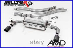 Milltek BMW M240i Coupe F22 Cat Back Exhaust Non Resonated Race System SSXBM1055