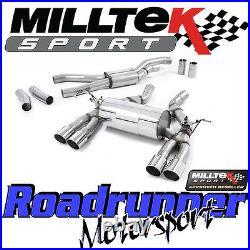 Milltek Bmw M3 F80 M4 F82 F83 Exhaust Cat Back RACE System Quad Polish SSXBM995