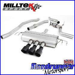 Milltek Civic Type R FK8 Cat Back Exhaust 3 RACE Non Res Black GT-100 SSXHO251