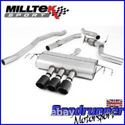 Milltek Civic Type R FK8 Cat Back Exhaust 3 RACE Non Res Carbon Jet100 SSXHO250