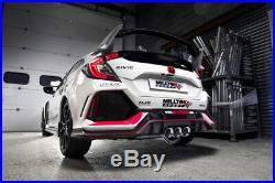 Milltek Civic Type R FK8 Cat Back Exhaust 3 RACE Non Res Polish GT-100 SSXHO252