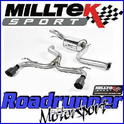 Milltek Focus ST225 Exhaust Cat Back 3 RACE System Black GT100 LOUDER SSXFD162
