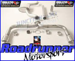 Milltek Golf GTI MK7.5 Exhaust Cat Back Non Res Rear RACE LOUD POLISH SSXVW462