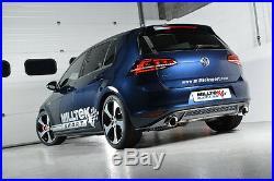 Milltek Golf GTI MK7 Exhaust 3 Cat Back Non Res Rear RACE VERSION LOUD POLISH