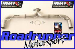 Milltek Golf GTI MK7 Exhaust 3 Cat Back Non Res Rear Race Version LOUD BLACK