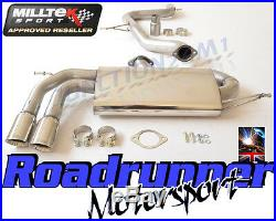 Milltek Golf GTi MK5 Exhaust 3 Race System Cat Back Non Resonated Polish Tails