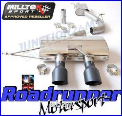 Milltek Golf MK6 R Cat Back Exhaust 3 Race System Res NON VALVED Black SSXVW220