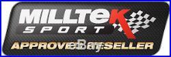 Milltek Golf MK6 R Exhaust 3 Race Turbo Back & De Cat Non Res Non Valved Black