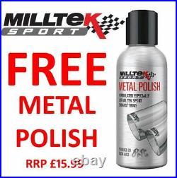 Milltek Golf R MK6 Cat Back Exhaust 3 Race System NO VALVE Non Res Blk SSXVW217