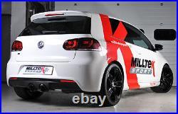 Milltek Golf R MK6 Turbo Back Exhaust 3 Race NO VALVE & RACE Cat Non Res Polish