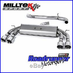Milltek Golf R MK7 Cat Back Exhaust RACE Non Res Non Valve Polish GT100 SSXVW408