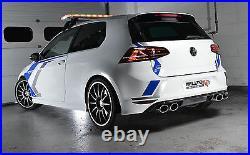 Milltek Golf R MK7 Turbo Back Race Exhaust 3 Non Res Non Valved & De-Cat Black
