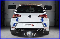 Milltek Golf R MK7 Turbo Back Race Exhaust 3 Non Res Non Valved & Sport Cat Blk