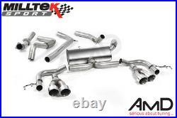 Milltek Honda Civic Type R FK2 Cat Back Exhaust Race System LHD Only SSXHO225