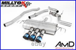 Milltek Honda Civic Type R FK8 Cat Back Exhaust Non Resonated Race SSXHO253