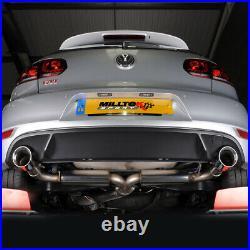 Milltek Non Res Race Cat Back Exhaust VW Golf MK6 GTi 2.0T 210PS 09-13 SSXVW248