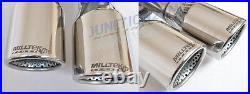 Milltek Octavia VRS 2.0T FSI 06-10 Exhaust Turbo Back Non-Res Inc DPipe RACE Cat