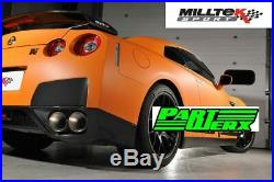 Milltek Primary Cat Back Exhaust 90mm Race Quad 127mm Tips Fits Nissan GTR R35
