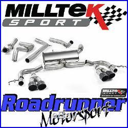 Milltek SSXHO215 Civic Type R FK2 Exhaust 3 Cat Back RACE System Non Res Black