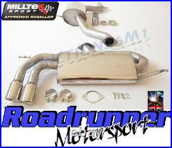 Milltek SSXVW279 Golf GTi MK5 Exhaust 3 Race System Cat Back Resonated Polish