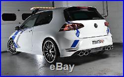 Milltek SSXVW307 Golf R MK7 Cat Back Exhaust 3 Race System Non Resonated Polish