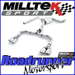 Milltek SSXVW327 Golf GTI MK7 R Style Exhaust 3 Cat Back RACE Non Res Polish