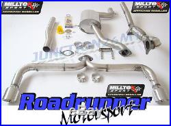 Milltek Scirocco R Exhaust Turbo Back 3 Race Inc De Cat Downpipe Non Res Rear