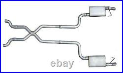 Pypes Exhaust System Violator Crossmember Back Stainless X-Pipe Chevy Corvette