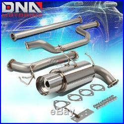 Racing Cat Back Exhaust Muffler 4.5 Tip+manifold Header For 90-91 Integra B18a1