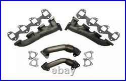 Rudy's High Flow Race Exhaust Manifolds & Up-Pipes For 01-04 GM 6.6L Duramax