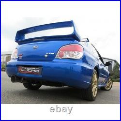 SB03y Cobra sport Subaru Impreza Turbo 01-07 Cat Back Race type Non res