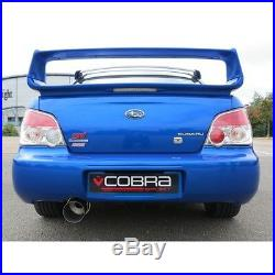 SB03z Cobra Subaru Impreza WRX STI 01-05 Race Type Cat Back Exhaust 3 Non Res